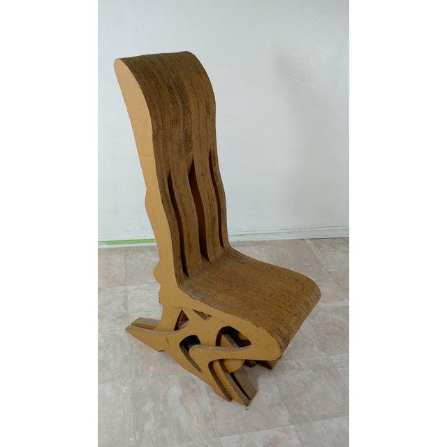 Brown Vintage Cardboard Chair, 1970s For Sale - Image 8 of 11