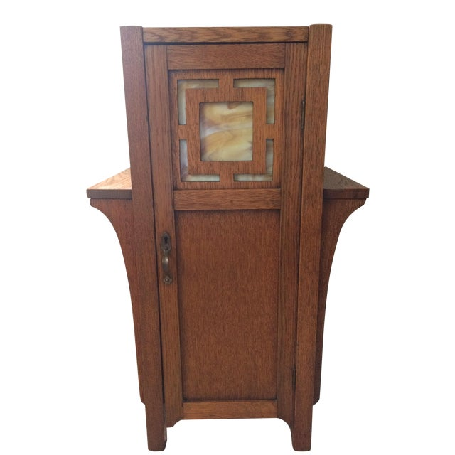 1930s Antique Mission Arts & Crafts Side Table Cabinet - Image 1 of 9