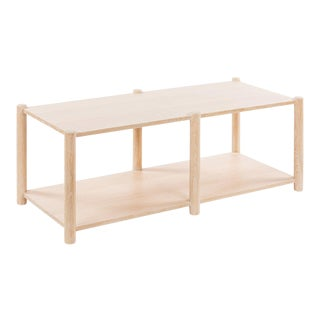Loma Coffee Table - Small in Whitewashed Oak For Sale