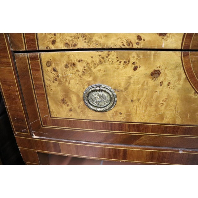 20th Century Italian Louis XVI Style Inlaid Wood Commode or Chest of Drawer For Sale - Image 9 of 13