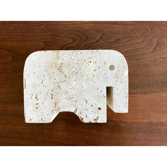 Stone Fratelli Mannelli Travertine Elephant Bookend For Sale - Image 7 of 11