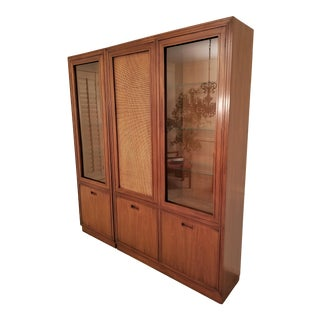 Mount Airy Furniture for John Stuart 1960's Modern China Cabinet For Sale