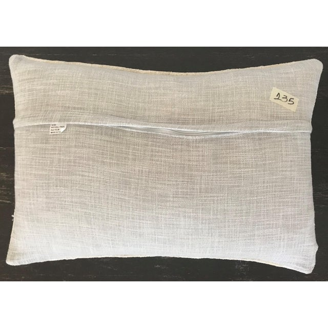 A beautiful minimalist and modern organic pillow hand tailored from vintage Turkish hemp kilim with linen back,hidden...