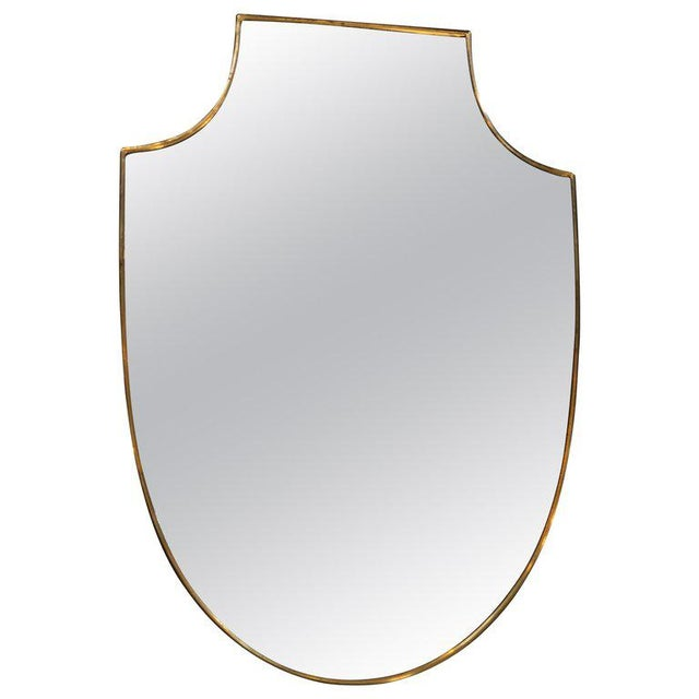 1960s 1960s Italian Shield Wall Mirror For Sale - Image 5 of 5