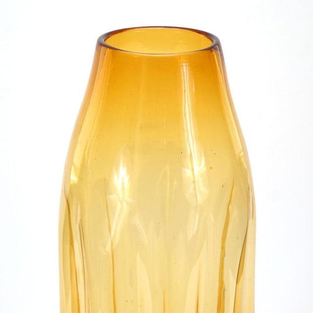 Blenko Amber Vase - Image 2 of 3