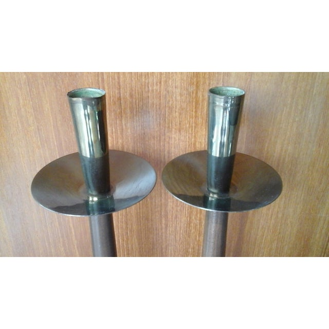 Vintage 60s Mid-Century Modern Tall Candle Holder - Image 3 of 8