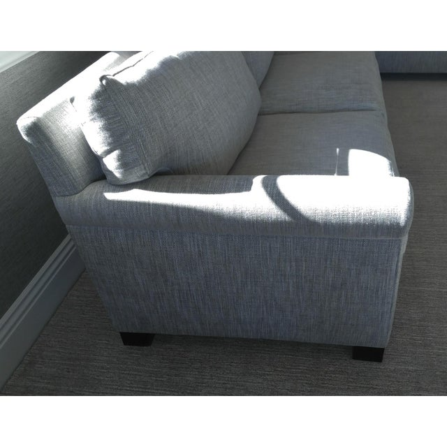 Contemporary Custom Made Sectional Sofa with Long Chaise Lounge For Sale - Image 3 of 10