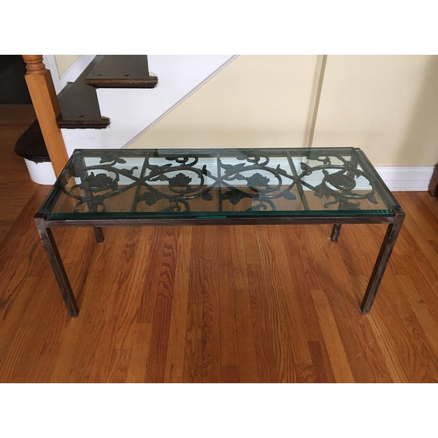19th Century French Iron and Glass Coffee or Accent Table For Sale - Image 9 of 9