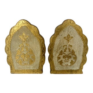 Vintage Florentine Bookends- a Pair For Sale