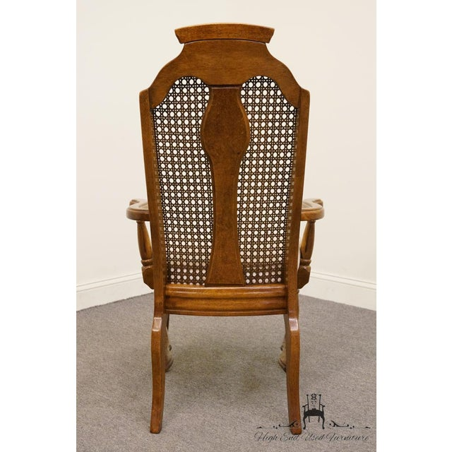 Henry Link Dixie Contemporary Style Cane Back Dining Arm Chairs - a Pair For Sale - Image 10 of 13