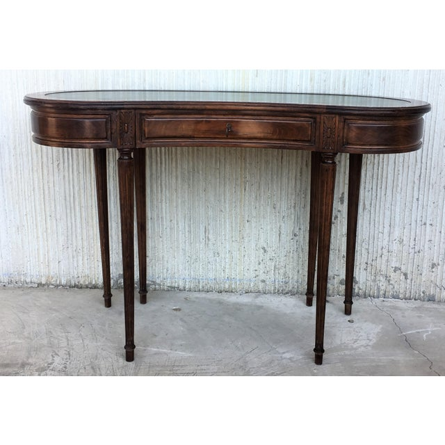 Late 19th Century Coromandel and Marquetry Inlaid Victorian Period Kidney Lady Desk For Sale - Image 5 of 13