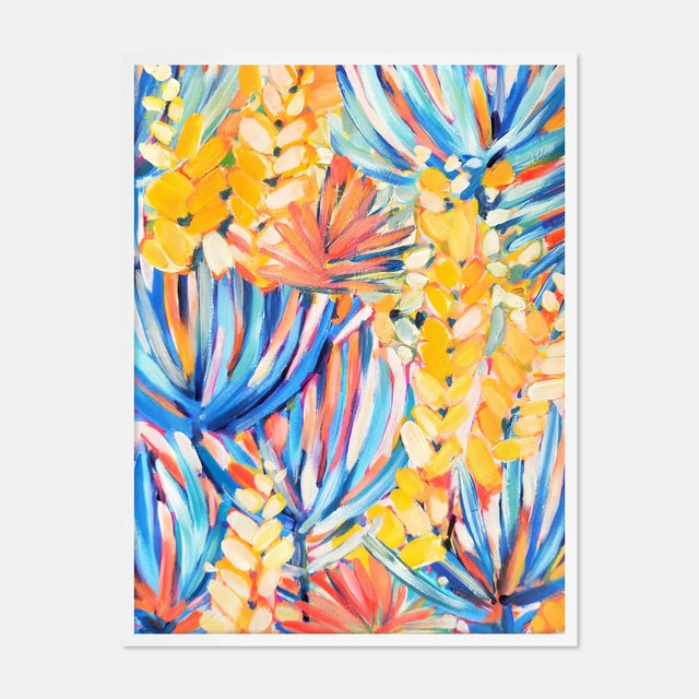 Clifton by Lulu DK in White Framed Paper, Medium Art Print For Sale - Image 4 of 4