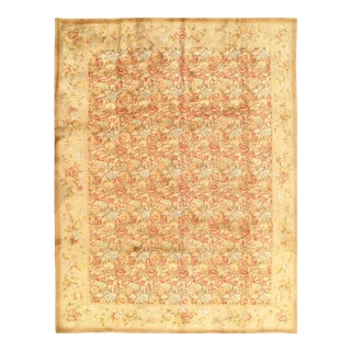 French Sino Savonnerie Style Rug-9' X 12' For Sale