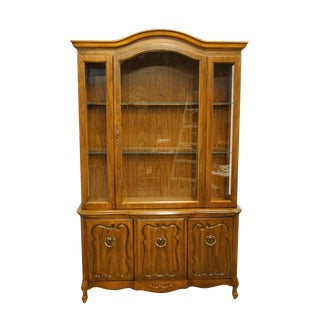 20th Century French Provincial Bernhardt Furniture Display China Cabinet For Sale