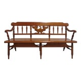 Image of 1960s Cushman Colonial Maple Deacons Bench For Sale
