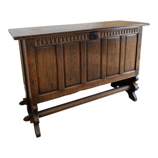 1800s Oak British Blanket Chest For Sale