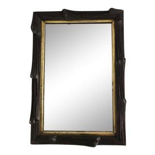 Faux Bois Gilt Mirror For Sale