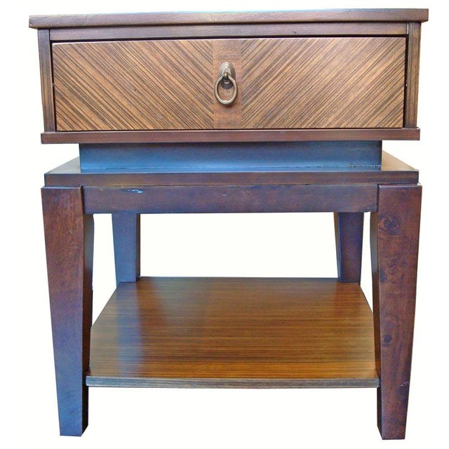 New Mid-Century Style End Table With Drawer - Image 2 of 6