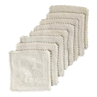 Vintage English Coaster Doilies-Set 8