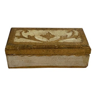 Italian Florentine Stamp Box For Sale