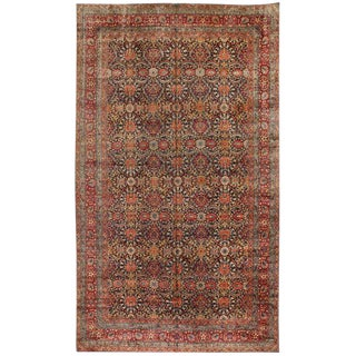 Exceptional Oversize Antique 19th Century Lavar Kerman Carpet