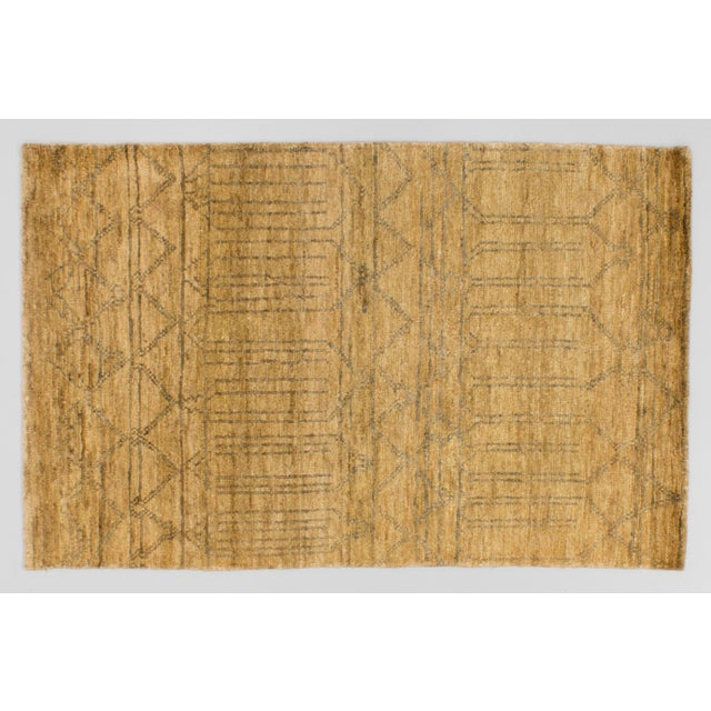 Solo Rugs Grit and Ground Collection Contemporary Mesa Verde Hand-Knotted Area Rug, Natural, 5' X 8' For Sale - Image 4 of 4