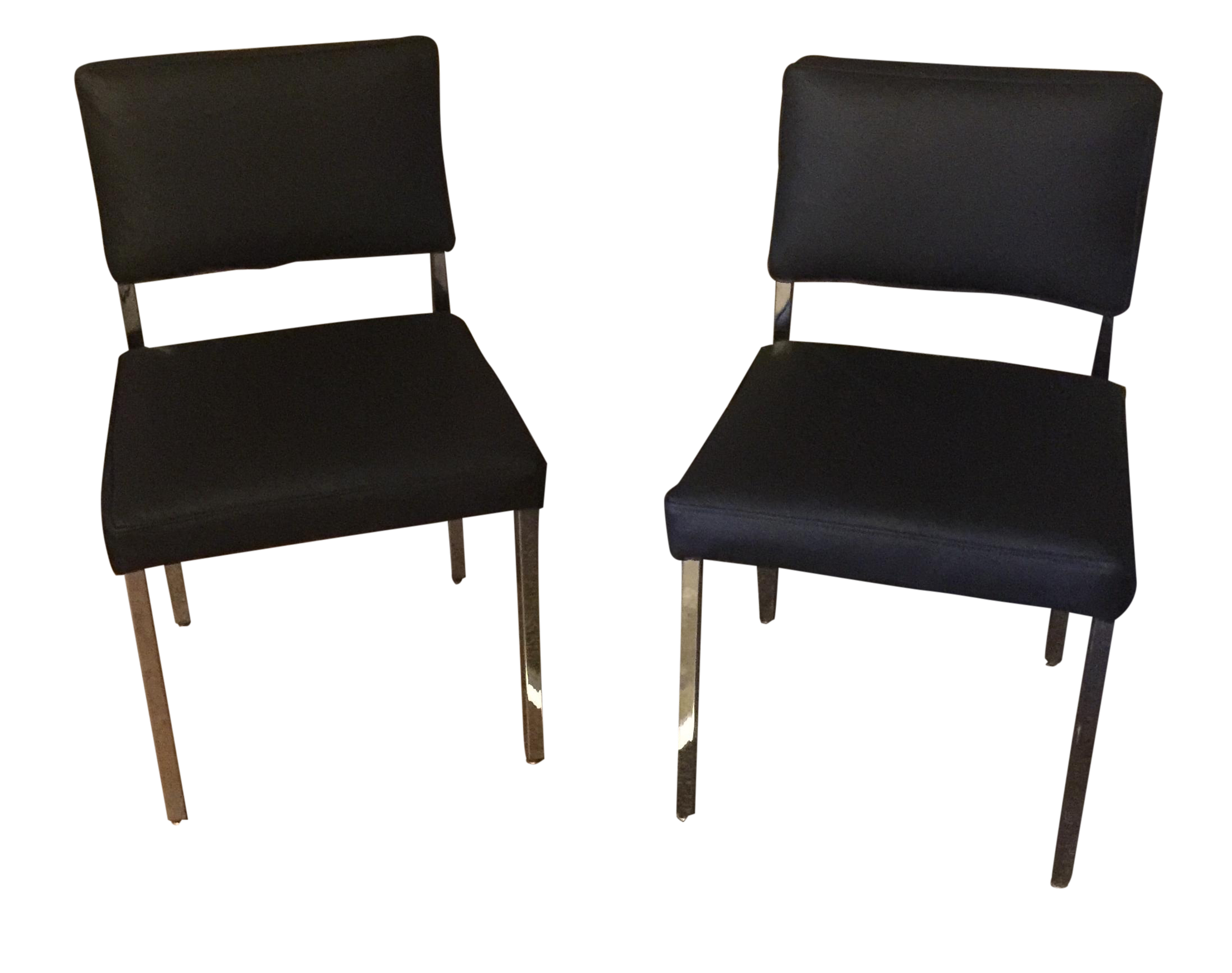 Exceptionnel Retro Mid Century Modern Chrome Chairs   Pair