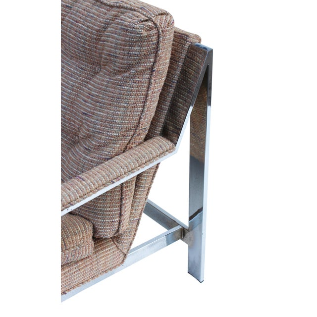 Cy Mann Chrome Flatbar Lounge Chairs, Pair For Sale - Image 10 of 11