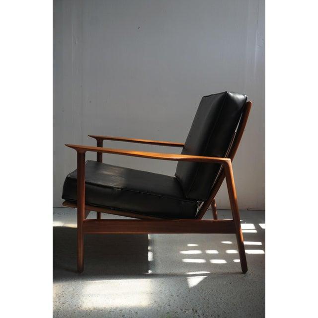 Danish Modern 1960s Danish Modern Kofod Larsen for Selig Walnut Lounge Chair For Sale - Image 3 of 8