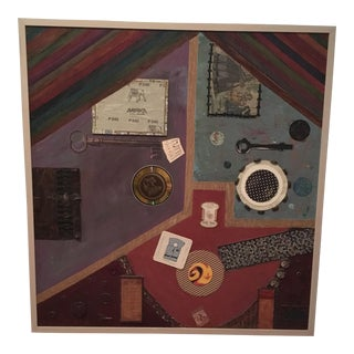 Lisa Leventhal Framed Abstract Assemblage For Sale