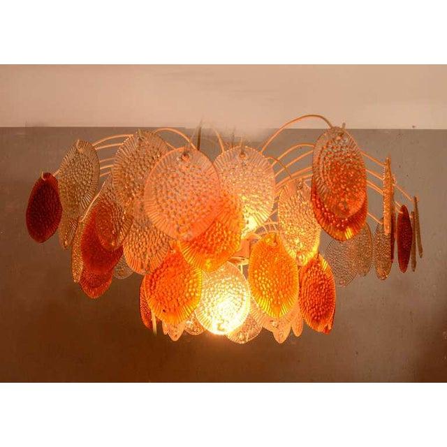 Feders Orange Hanging Chandelier For Sale - Image 4 of 8