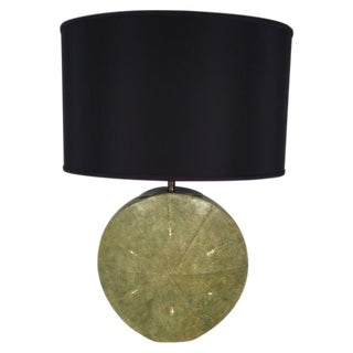 Art Deco Moon Flask Shagreen Table Lamp For Sale