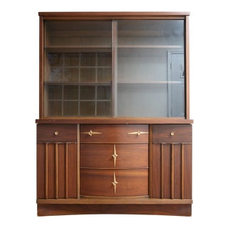Mid Century Distinctive by Stanley Furniture China Cabinet For Sale