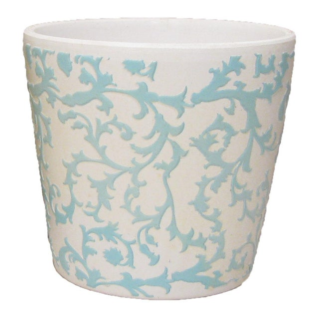 American Classical Blue, Yellow, White Bisque Planters - Set of 5 For Sale - Image 3 of 6