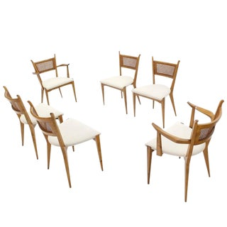 Set of Six Mid-Century Swedish Modern Dining Chairs by Edmund Spence For Sale