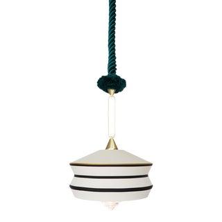 Contardi Calypso Antigua Pendant Light in Moss Green and White For Sale