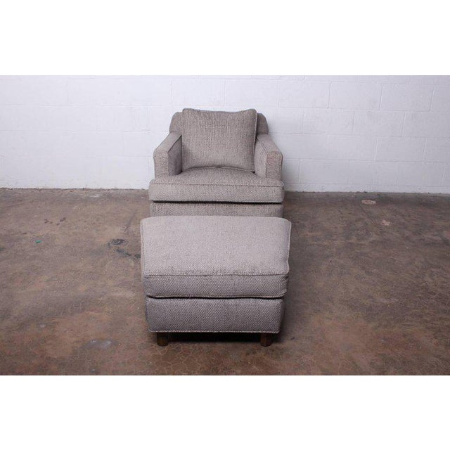 Fabric Lounge Chair and Ottoman by Edward Wormley for Dunbar For Sale - Image 7 of 11