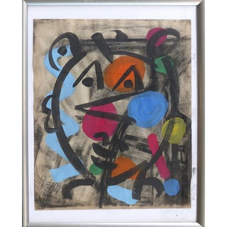 1960s Abstract Mixed Media Painting by Peter Robert Keil For Sale