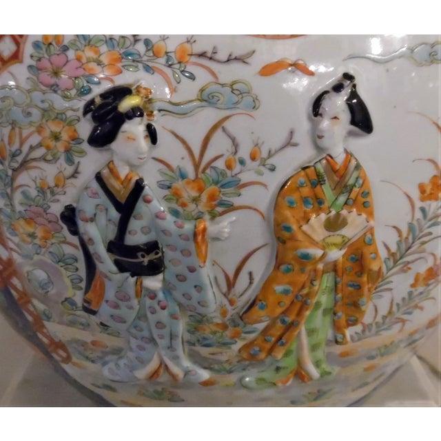 Ceramic Japanese Imari Fish Bowl For Sale - Image 7 of 13