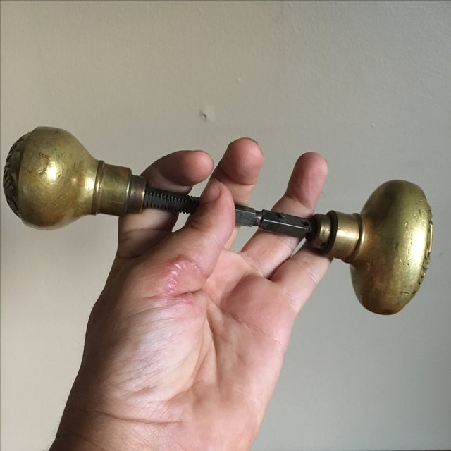 NYC Antique Brass Public School Doorknobs - Image 5 of 7