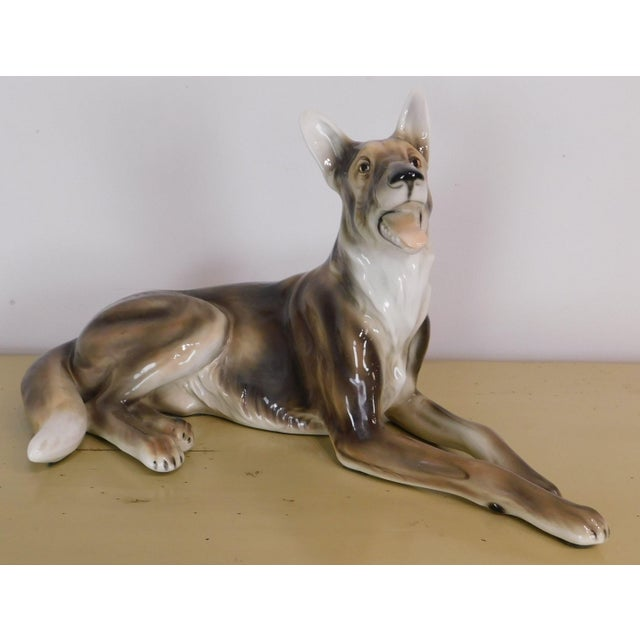 Traditional Porcelain German Shepard Figurine For Sale - Image 3 of 12