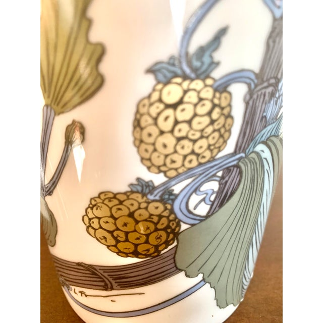 Metal Rosenthal Germany Studio Line Large Gilt Botanical Vase For Sale - Image 7 of 10