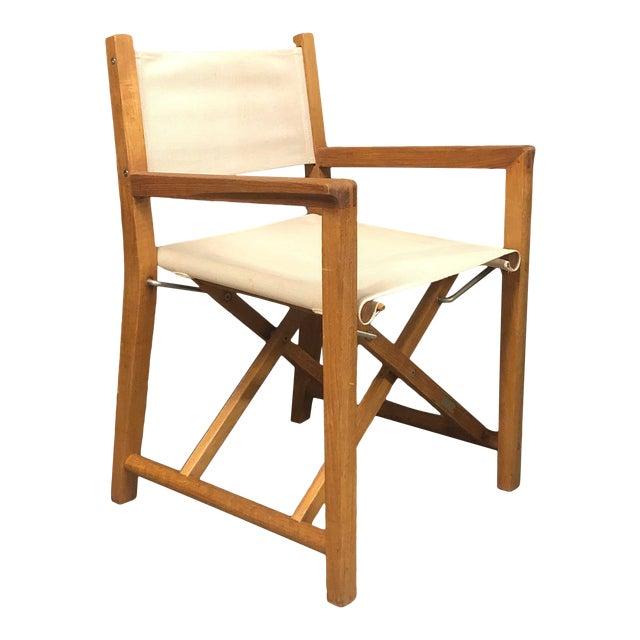 Foldable Teak Directors Chair For Sale