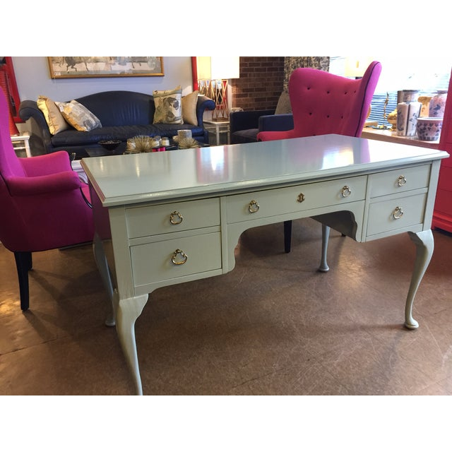 French Style Vintage Lacquered Desk - Image 4 of 7