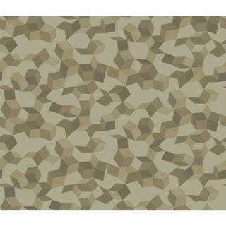 Cole & Son Ingot Wallpaper Roll - Olive & Gilver For Sale