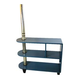 Modernist Art Deco Triple Tier Shelves Table For Sale