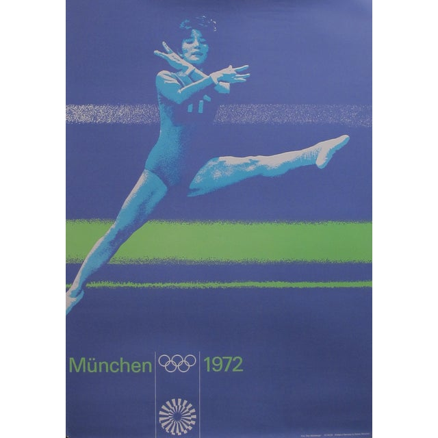 Original 1972 Munich Gymnastics Poster - Image 1 of 3