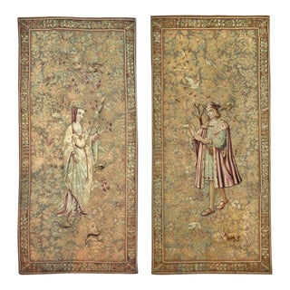 17th to Early 18th Century Antique Franco Flemish Tapestry Panels - a Pair For Sale