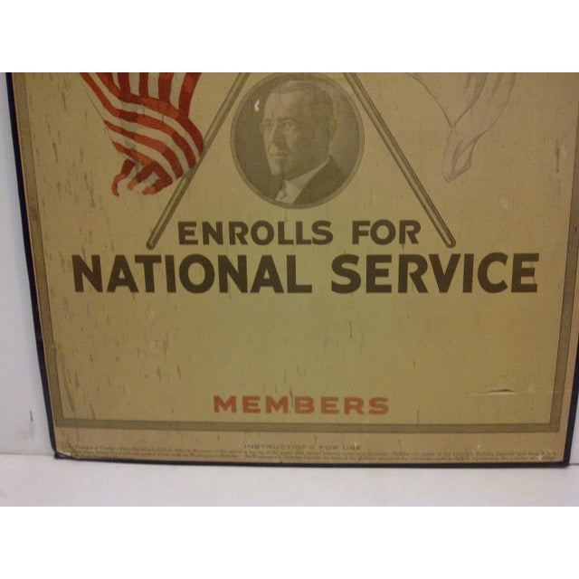 Vintage World War I Enrolls for National Service Members School Poster - Image 4 of 6