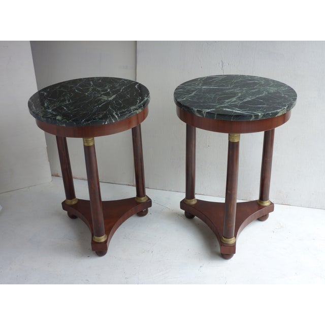 French Empire-Style Side Tables - A Pair - Image 2 of 7